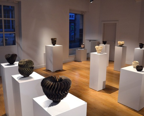 Ursula Morley-Price ceramics exhibition in a French Gallery in Burgundy